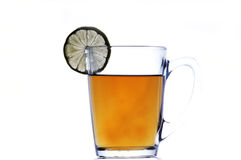 Tea glass with lemon Royalty Free Stock Image