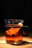Tea in glass. On a table Royalty Free Stock Photography