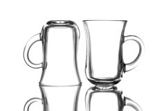 Tea glasses. Empty tea glasses  in front of white background Stock Image