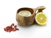 Tea and goji Royalty Free Stock Photography