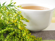 Tea with goldenrod Royalty Free Stock Photography