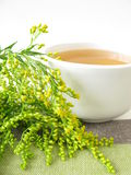 Tea with goldenrod Royalty Free Stock Images