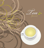 Tea gourmet. Pattern for wrapping design Stock Image