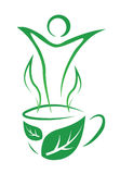 Tea for weight loss. Vector illustration. Royalty Free Stock Photography