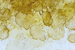 Tea grunge stained paper texture. Layers of tea stains on a paper background for your next design royalty free stock photography