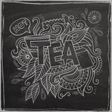 Tea hand lettering and doodles element On Royalty Free Stock Images