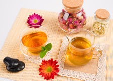 Tea and healthy lifestyle Stock Photo