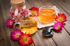 Tea and healthy lifestyle Stock Images