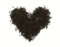 Tea heart isolated on the white background Royalty Free Stock Images