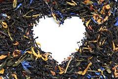 Tea heart. Lot of tea - heart form Stock Image