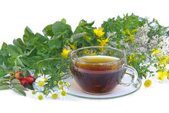 Tea herbal 01. Tea, herbal infusion, healthy living royalty free stock photography