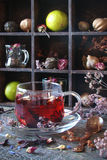 Tea from herbs with ginger, lemon in a rustic style Stock Photography