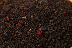 Tea Herbs Texture. Black Tea. Organic Dried Black Tea Leaves. Royalty Free Stock Photos