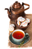 Tea with homemade cookies Stock Photo