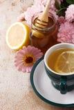 Tea and honey Royalty Free Stock Photography