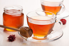 Tea with honey Stock Photos