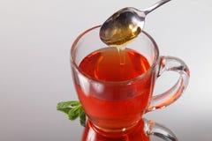 Tea and honey Royalty Free Stock Photos
