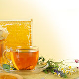 Tea and honey Stock Photo
