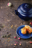 Tea and honey Stock Photos