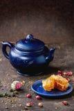 Tea and honey Stock Photography