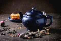 Tea and honey Stock Image