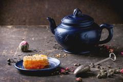 Tea and honey Stock Images