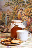 Tea with honey and cookies Stock Images