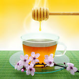 Tea and Honey Stock Photos