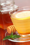 Tea with honey and lemon Stock Images