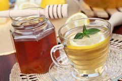 Tea with honey and lemon Royalty Free Stock Image
