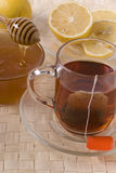 Tea, honey and lemon Stock Image