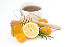 Tea, honey and lemon Royalty Free Stock Photography