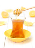 Tea with honey and lemon Stock Image