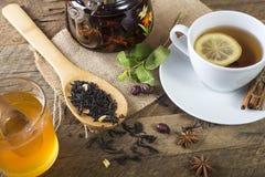 Tea honey and lemon Royalty Free Stock Photo