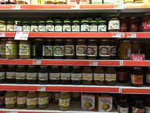 Tea and honey  selling at supermarket Stock Image
