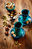 Tea or Hot Wine with Various Spices Stock Images