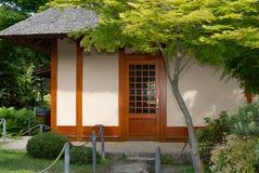 Tea house. A Japanese tea house in Botanical Garden royalty free stock photos