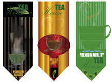3 tea house backgrounds Royalty Free Stock Images