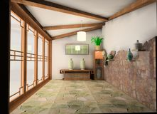 Tea-house chinês ilustração stock