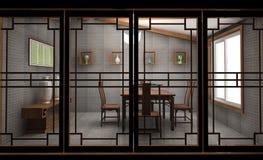 Tea-house chinês ilustração royalty free