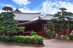 Tea house at chinese park Stock Image