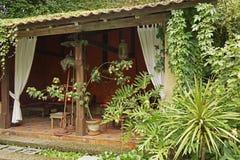 Tea house in garden Stock Photos