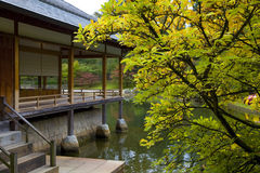 Tea house in Japanese Garden. Hasselt, Belgium Stock Photos
