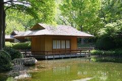 Tea house in Japanese garden Royalty Free Stock Image