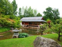 Tea house in the Japanese Garden Stock Photo