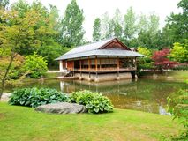 Tea house in the Japanese Garden Royalty Free Stock Image