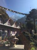 Tea house in Nepal. Along the trek to Everest Base Camp stock photos