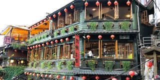 A tea house of Taiwan royalty free stock photos