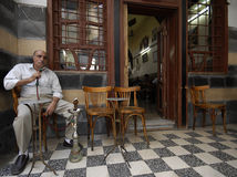 Tea house and tobacco shop at Damascus Stock Photography