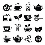 Tea and ice tea  icons set Stock Photos